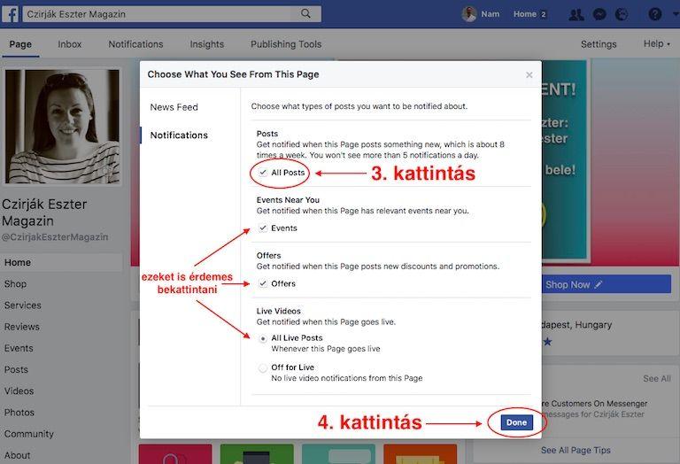 Facebook desktop oldal 2