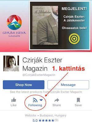 Facebook mobil oldal 1