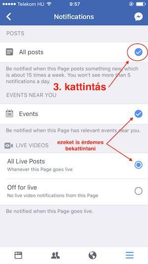 Facebook mobil oldal 3