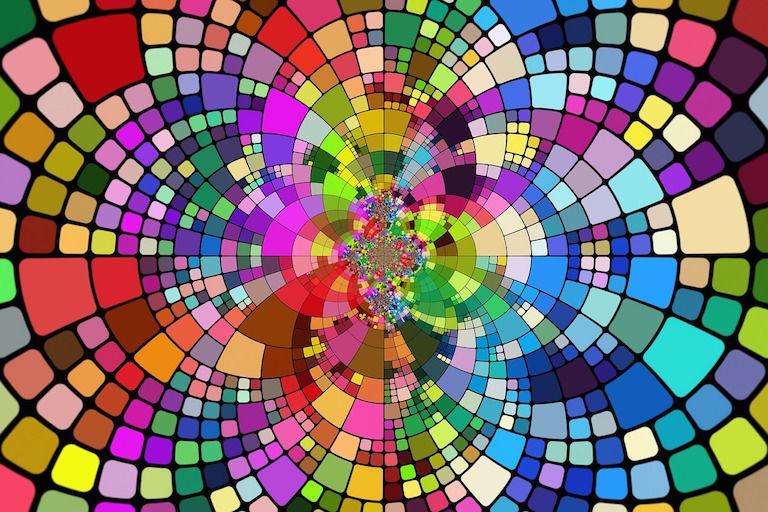Kreativitás kaleidoszkóp színek